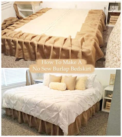 how to put on a bed skirt 50 creative diy projects made with burlap