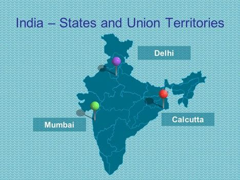 india map ppt template powerpoint map of india including states