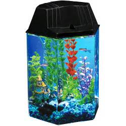Hawkeye 1.6 gallon hexagon aquarium kit   Walmart.com