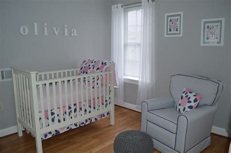 pink and navy blue we you project nursery