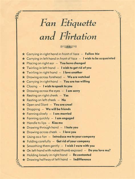 fan etiquette  flirtation httpbpblogspotcom