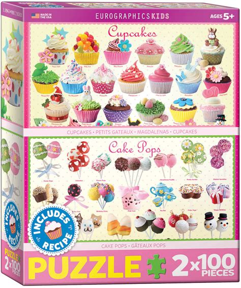100 cake pops 2 puzzles cupcakes cake pops 100 teile