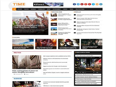 free joomla magazine template jsn time free joomla template for news magazine