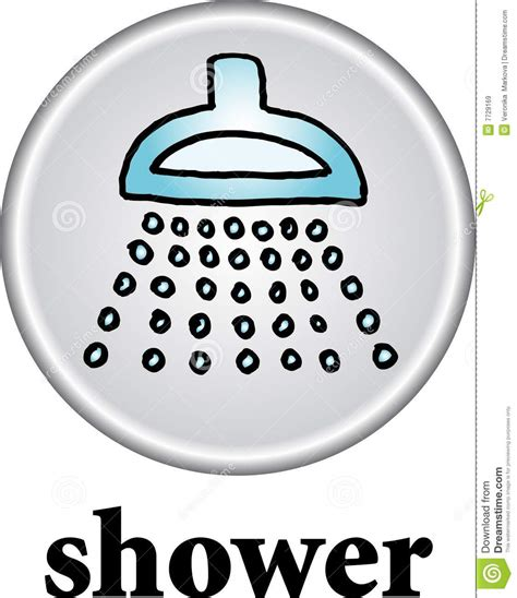 shower sign stock vector illustration of pictograph