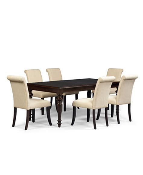 Bradford Dining Room Furniture Bradford 9 Dining Room Furniture Set With Upholstered Chairs Furniture Macy S
