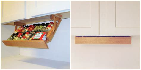 under cabinet hanging shelves maximize your cabinet space with these 16 storage ideas