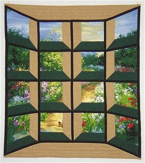 Attic Window Quilt Pattern by Quot Pathway Through Garden Quot By B Michigan Usa