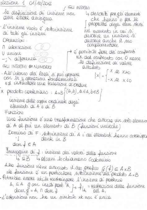 test analisi 1 polito analisi matematica i appunti