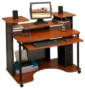 Studio Computer Desk Studio Rta Wood Computer Desk In Black And Cherry Transitional Desks And Hutches By Cymax