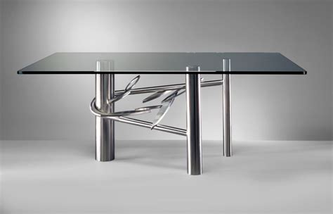 Steel Glass Dining Table 20 Sleek Stainless Steel Dining Tables
