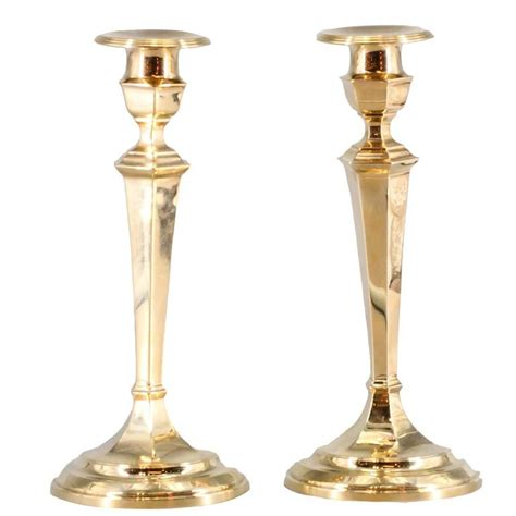 candlestick pattern gold gorham retro pair of gold candlesticks for sale at 1stdibs