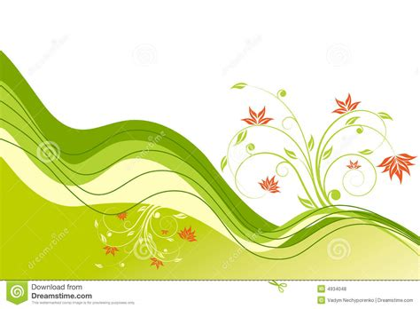 Wave And Flower flower wave royalty free stock photos image 4934048
