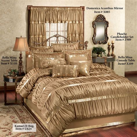 gold bed comforters splendor shirred faux silk dark gold comforter bedding