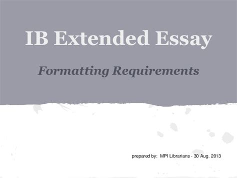 ib extended essay sles ib extended essay requirements