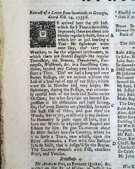 words that start with the letter a letter from rarenewspapers 1735