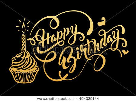 birthday card vector happy birthday text birthday background with gold