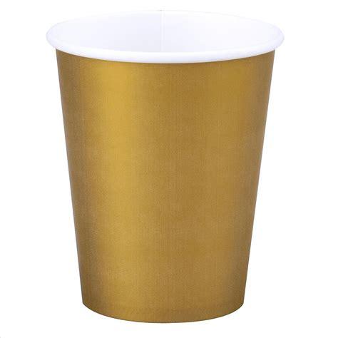 Paper Cups - gold paper cups 12oz