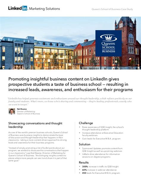 Mba Of Linkedin by Linkedin Study S School Of Business Uses