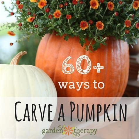 60 ways to carve a pumpkin