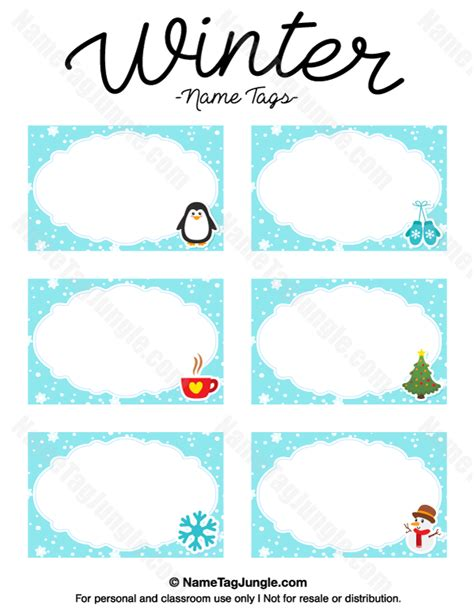 free name templates printable winter name tags