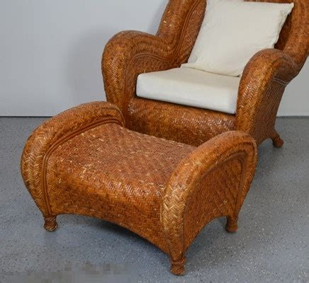 pottery barn wicker chair and ottoman pottery barn woven rattan chair and ottoman ebth