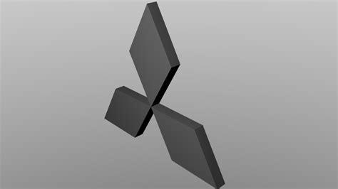 Sweater Anak Unisex Logo Mitsubishi Roffico mitsubishi logo 3d model obj blend cgtrader