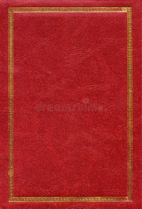 red leather texture  gold decorative frame stock