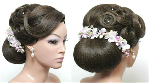 beautiful buns hairstyles dailymotion beautiful hairstyles with puff for wedding or function