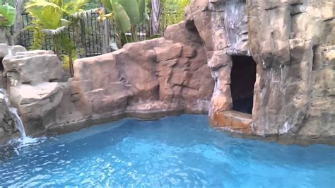 Lazy River Pools For Your Backyard Rock Waterfall Pool With Bbq Island Mp4 Youtube