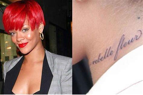 rihanna neck tattoo rihanna tattoos neck models designs quotes and