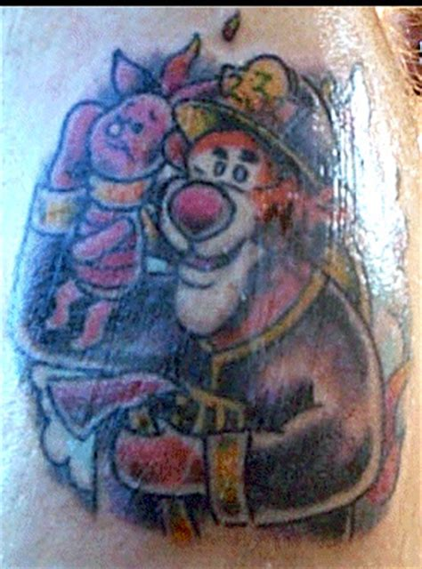firefighter cartoon characters tattoos