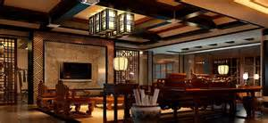 Chinese Living Room by 3d Living Room With Sofa And Lamps Chinese Classical Style