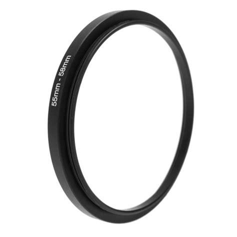 Step Filter Ring 58mm 55mm 58 Mm 55 Mm 58 55 55 58mm metal step up adapter ring 55mm lens to 58 end 5