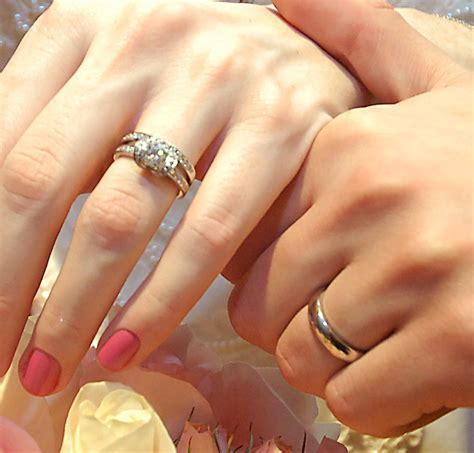 Wedding Ring With Engagement Ring by Post Photos Only Of Your Engagement Wedding Ring S Here