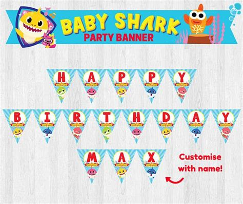 baby shark happy birthday 8 best baby shark images on pinterest baby shark banner
