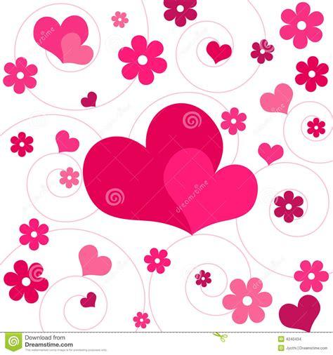 imagenes flores corazones corazones y flores ilustraci 243 n del vector ilustraci 243 n de