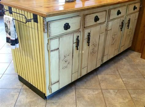 Decoupage Cabinets - hometalk kitchen cabinet island makeover