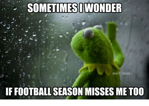 Football Season Meme - sometimesi owonder memes if football season misses me too