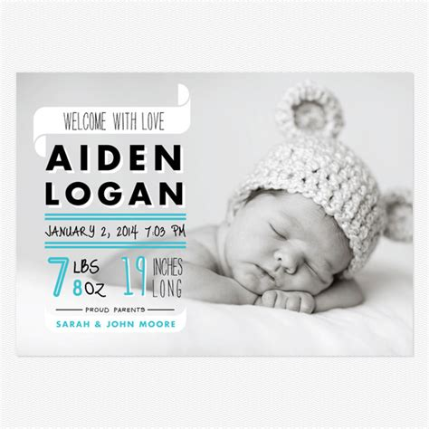 baby announcement graphic colorful birth announcements