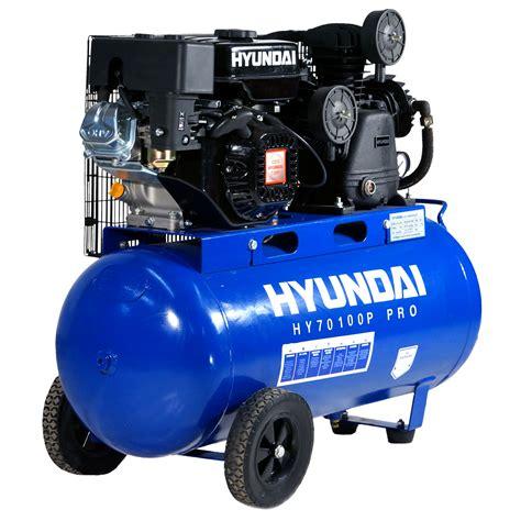 90 litre professional hyundai petrol driven air compressor 15 1cfm 7 0hp 90l ebay