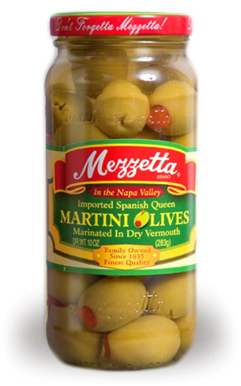 best martini olives mezzetta