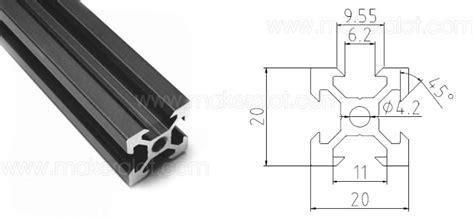 2020 v slot aluminium extrusion 1 meter makeralot maker tools and materials