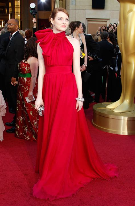 emma stone red carpet dresses celebrity dresses emma stone formal dress 2012 oscars red