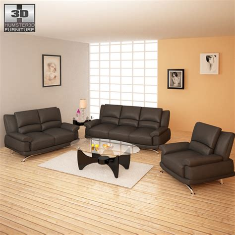 model living rooms living room furniture 09 set 3d model hum3d