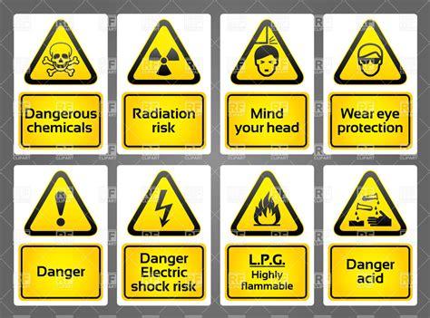 warning signs warning hazard signs stickers 17756 signs symbols maps royalty free
