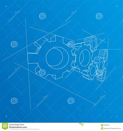 Blueprint Vector Stock Photo Image 9031930 | gears blueprint background vector royalty free stock