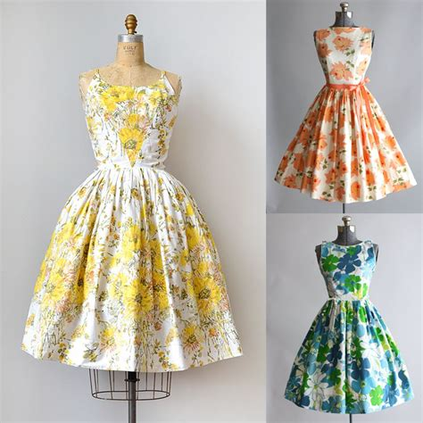 vintage sewing inspiration 2 1950s summer dresses the