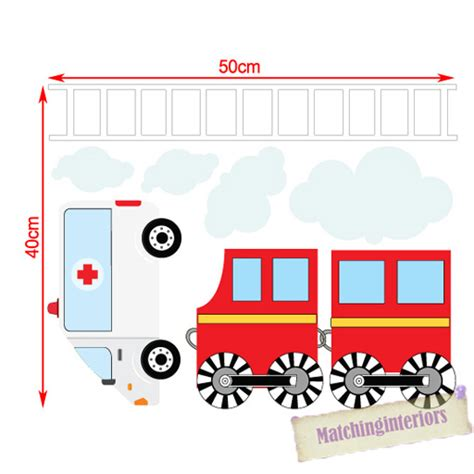 Car Wall Decals For Nursery Childrens Transport Vehicles Cars Wall Stickers Decals Nursery Boys Bedroom Ebay