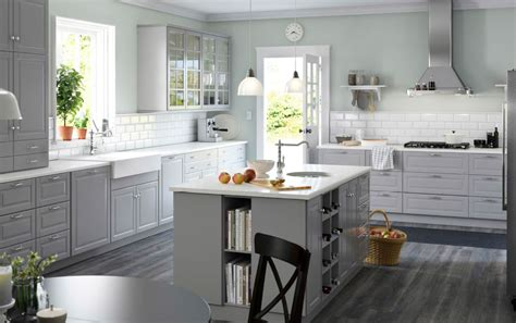 grey kitchen cabinets ikea rustic style kitchen