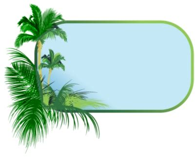 Palm Tree Border Clipart palm tree border clipart best